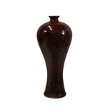 Chinese Handmade Ox Blood Red Marks Ceramic Accent Vase ws341S