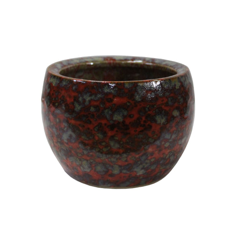 ceramic bowl - ox blood bowl - ceramic urn