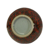 Chinese Handmade Ox Blood Red Marks Ceramic Incense Holder Urn ws347S