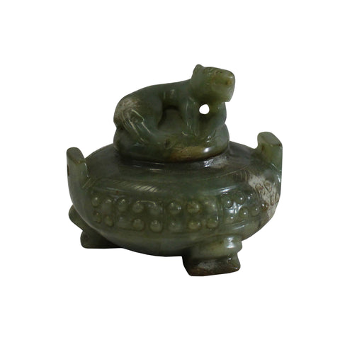 incense holder - ding - oriental jade stone urn