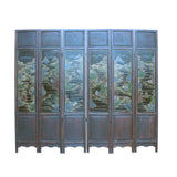 stone inlaid - screen panel - antique chinoiserie screen