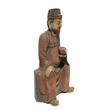 wood statue - God of Fortune - Chinese Deity