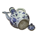 Chinese Blue White Porcelain Scenery Accent Teapot Shape Display ws400S