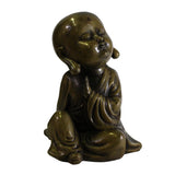 metal lohon - little monk - Zen Buddha