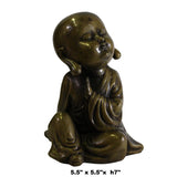 Chinese Oriental Fine Bronze Metal Small Lohon Monk Display Figure ws421S