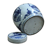 Chinese Vintage Oriental Blue & White Medium Round Ginger Jar ws450S