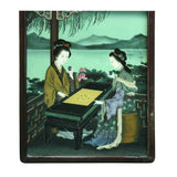 Vintage Chinese Reverse Painting Glass Lady Portrait Wall Art ws455S