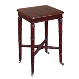 side table - table on wheels - red lacquer table