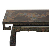 Chinese Black Gloss Lacquered Song Ming Style Low Kang Table Stand ws464S
