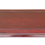 Chinese Huali Rosewood Reddish Brown Straight Apron Side Altar Table ws470S