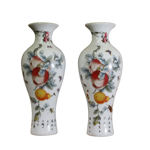 wall vase - Porcelain vase container - paperweight