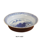 Chinese Blue White Ancient Scenery Fengshui Painting Porcelain Plate ws495S