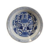 blue white plate - double fishes - Chinese pottery