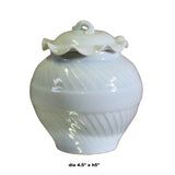 Handmade Oriental Off White Thin Porcelain Small Jar Container ws501S
