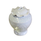 off white jar - porcelain urn - chinese ceramic box