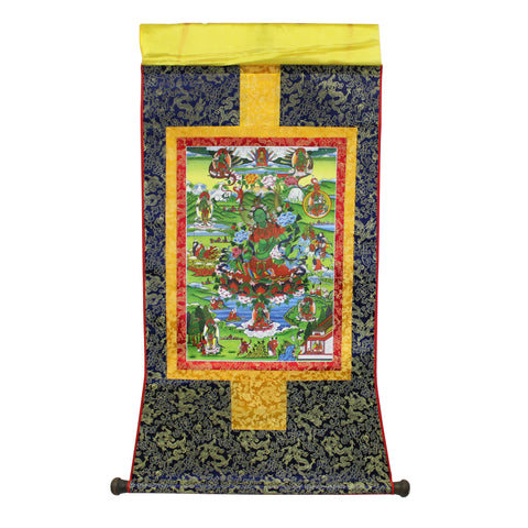 tibetan thangka - Buddha painting  - Scroll thangka