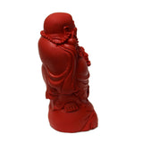 Chinese Handmade Red Cinnabar Happy Buddha Figure ws562S