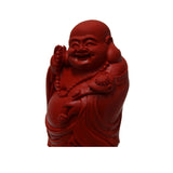 Cinnabar - Red Happy Buddha - Fengshui