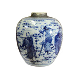 ginger jar - blue white - ceramic urn