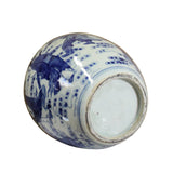 Chinese Oriental Handpaint Small Blue White Porcelain Ginger Jar ws581S