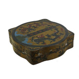 lacquer box - yellow box - chinoiserie box