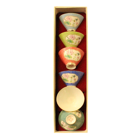 tea cups set - oriental teacups - porcelain teacups