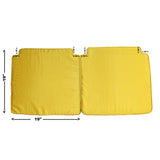 A26 Pair Chinese Oriental Golden Yellow Silk Fabric Square Seat Cushion Pads ws597S