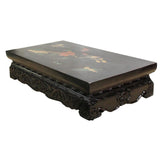Chinese Black Rosewood Inlay Rectangular Table Top Stand Display Easel ws602S