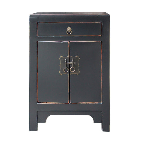 end table - nightstand - black small cabinet