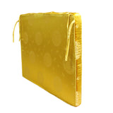 A6 Chinese Oriental Golden Yellow Silk Fabric Rectangular Seat Cushion Pad ws611S