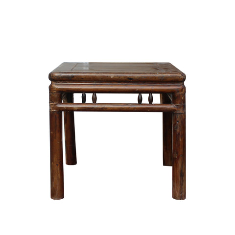 wood stool - square side table - old chinese table