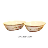Set Chinese Vintage Yellow Floral Theme White Base Porcelain Teacups Plates ws634S