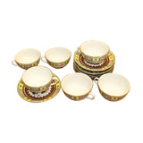 teacups set - Oriental teacups set - afternoon tea set
