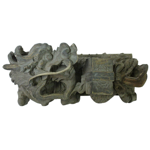 kirin statue - wood carving  - chinese wall art