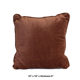 A15 Velvet Brown Square Shape Fabric Couch Sofa Cushion ws640S