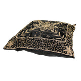 A17 Black Square Shape Thread Pattern Fabric Couch Sofa Cushion ws643S