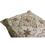 A21 Off White Square Shape Thread Pattern Fabric Couch Sofa Cushion ws646S