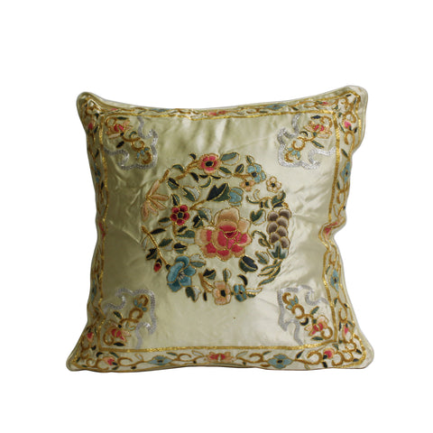 pillow - flower pattern cushion  - oriental cushion
