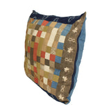 A29  Blue Mix Color Square Shape Checker Fabric Couch Sofa Cushion ws650S