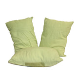 A31 3 Pieces Green Color Rectangular Fabric Couch Sofa Cushions ws652S