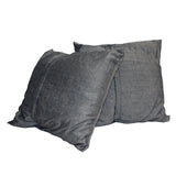 A31 Pair Gray Color Square Flower Theme Fabric Couch Sofa Cushions ws653S