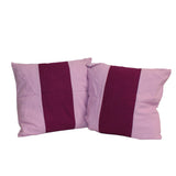 A33  Pair Purple Color Square Fabric Couch Sofa Cushions ws655S