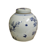 Chinese Vintage Oriental Blue & White Large Round Ginger Jar ws660AS