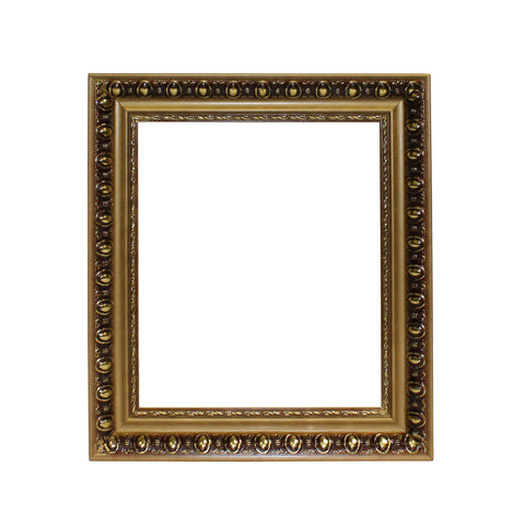 wood frame - golden picture frame - painting frame