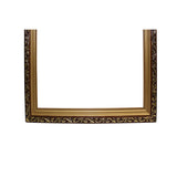 F4 Wood Golden Scroll Motif Rim Rectangular Picture Painting Frame ws682AS