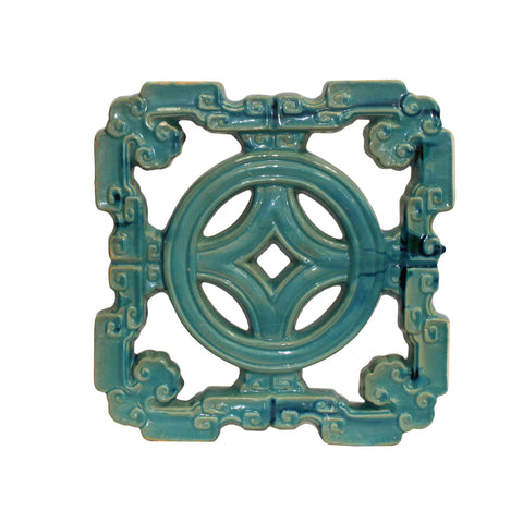 clay tile - coin pattern tile - oriental ceramic tile