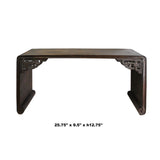 Brown Rosewood Oriental Ru Yi Carving Rectangular Display Table Stand ws739S