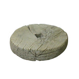 Rustic Raw Wood Round Thick Plank Display Board ws755S