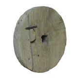 Rustic Raw Wood Round Thick Plank Display Board ws756S