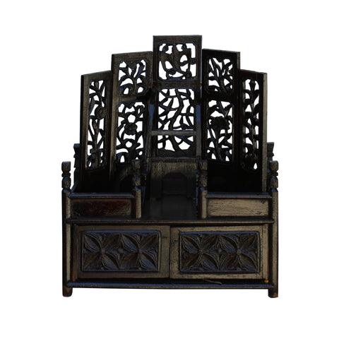 shrine chest - display rack - vintage chest